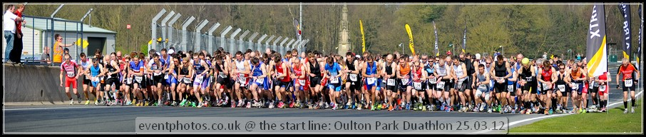 Starting Line @ Oulton Park - Duathlon March 2012